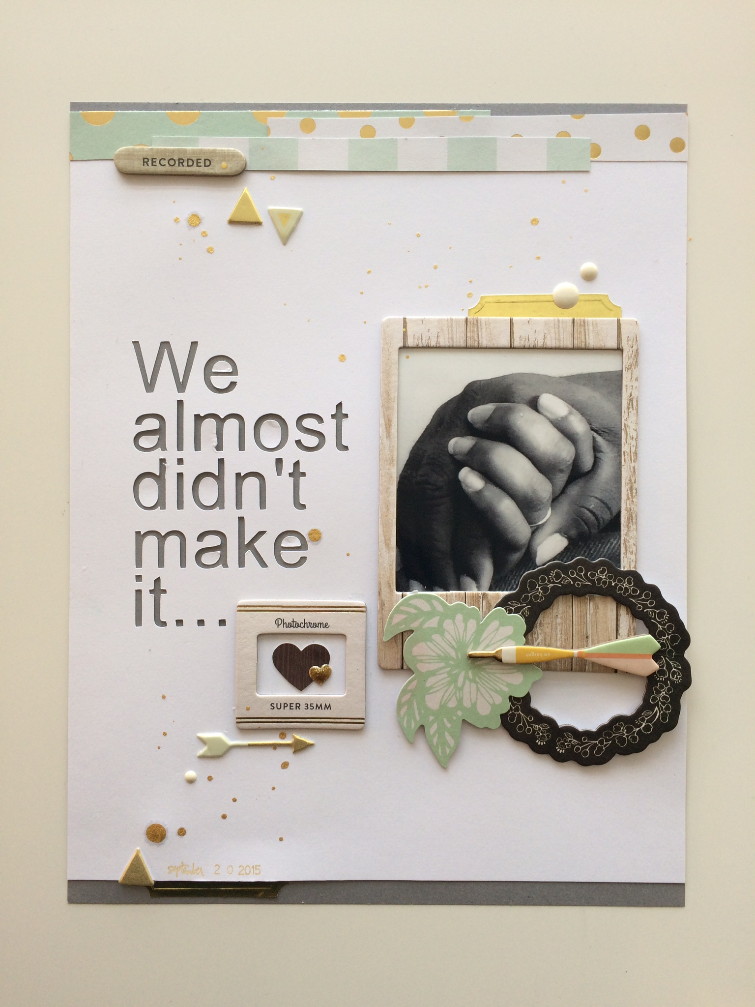 How to make scrapbook for husband - And To Think That We Almost Didn T Make It Gives This Particular Anniversary More Meaning We Have Come So Far And Continue To Have A