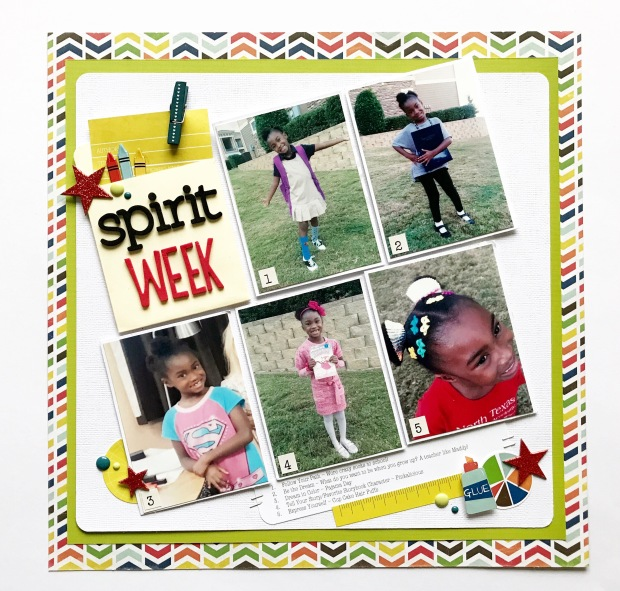 Lesson 2 Grid Layout #1 Spirit Week